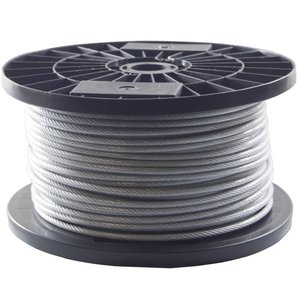 Wire Rope 3/4 mm 400 Meter  PVC huge coil