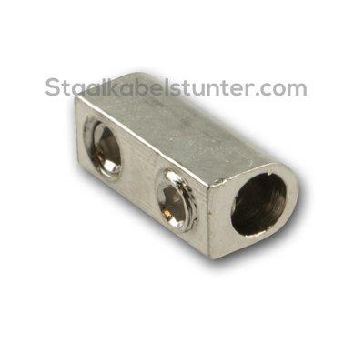 Drahtseilklemmen 1mm met 2 Sechskantschraubes