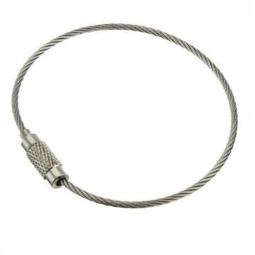 roestvaststaal Staaldraad 150 mm 'armband' Staaldraad sleutelring