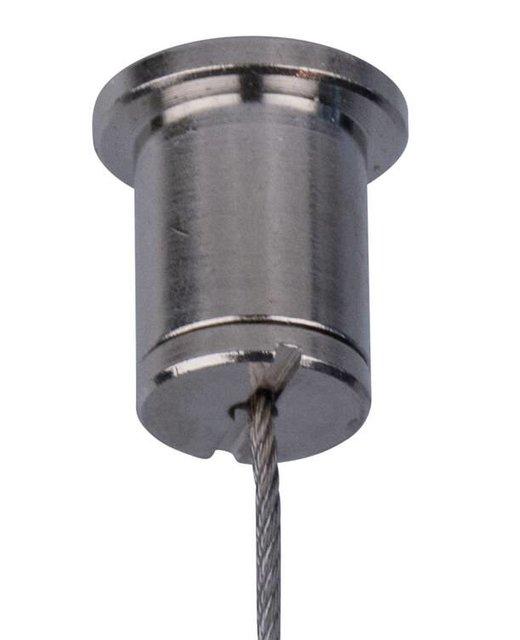 Plafondbevestiging voor staalkabel