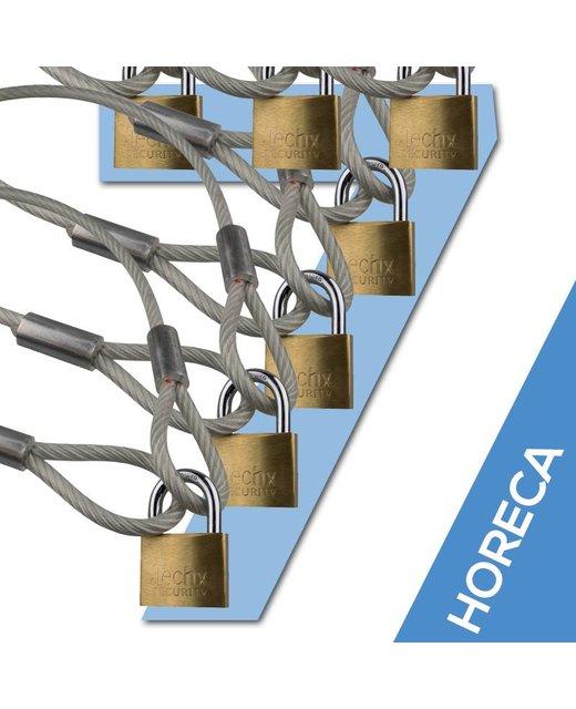 Kabel met lussen 90 cm met hangslot