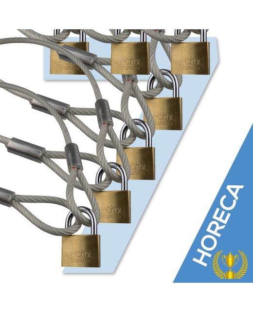 Kabel mit Schleifen 350 cm met Vorhängeschloss