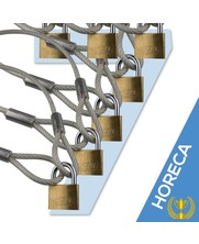 cable with loops 500 cm with padlock