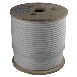 Staalkabel 4/8 Rvs Wit geplastificeerd 100 meter