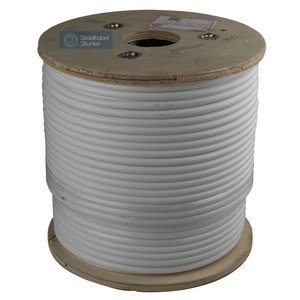 Wire Rope 4/8 stainless white PVC 100 meter