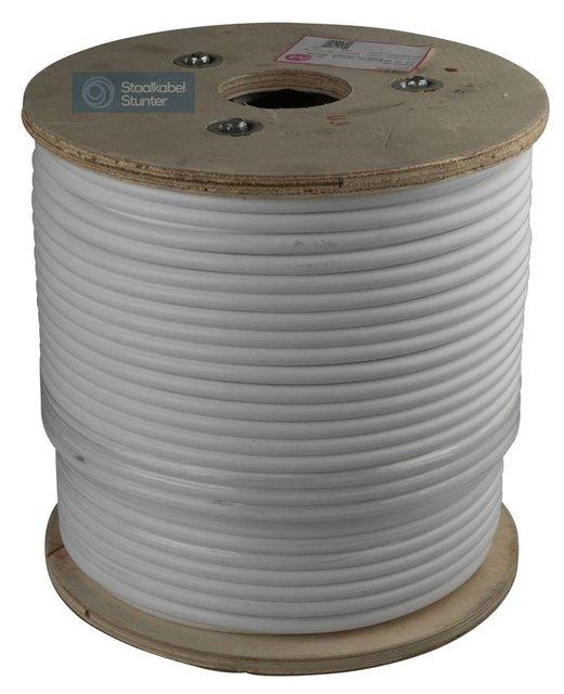 Staalkabel 4/8 mm geplastificeerd 100 meter op rol