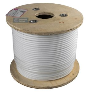 Wire Rope 3/6 stainless white PVC 100 meter