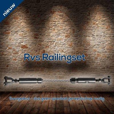 Railingset 5mm 2pcs Stainless