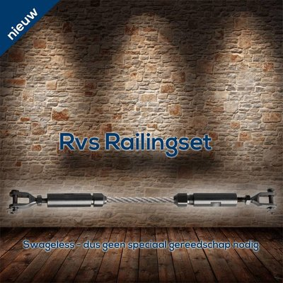 Railingset 4mm 2pcs Stainless