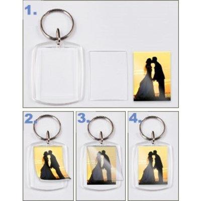 für Foto, Bild, Namen mit Druckbögen Schlüsselanhänger PE
