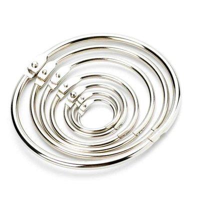 Technx Blatt Binder Ring Metall Buch Ringe lose Buchring Schlüsselring 57mm