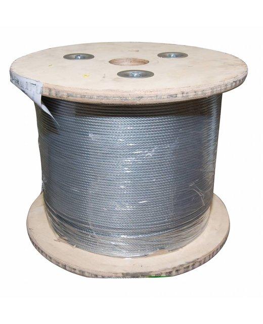 Staalkabel 5 mm 400 meter op katrol