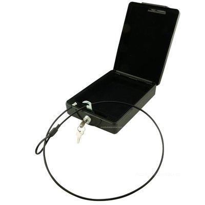 Mobiel kluisje met staalkabel