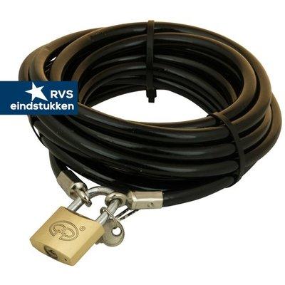Slimline Tuinmeubel kabels 10m zwart + slot