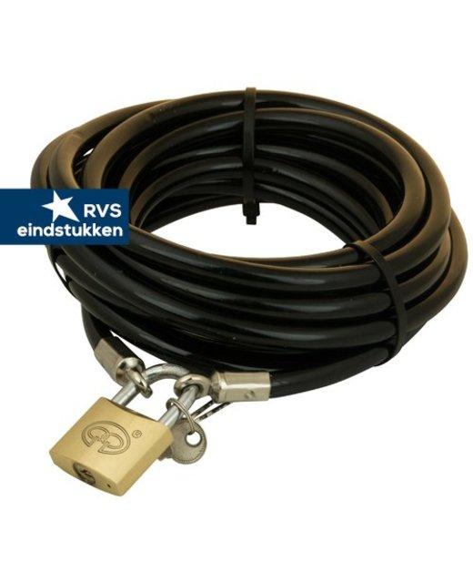 Tuinmeubel kabels 10m zwart + slot
