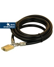 Tuinmeubel kabels 3m zwart + slot