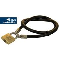 Slimline terracecable 80cm black + lock