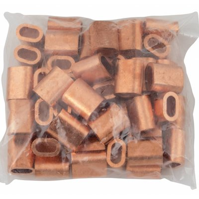 Kupfer Drahtseilpressklemmen 5mm 50 Stück