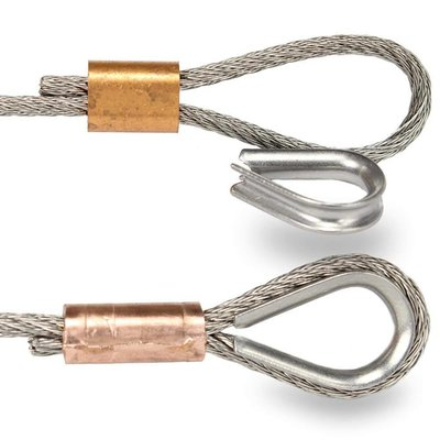 Kupfer Drahtseilpressklemmen 2mm