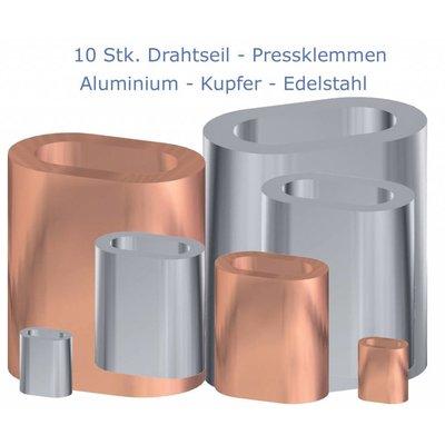 Kupfer Drahtseilpressklemmen 6mm