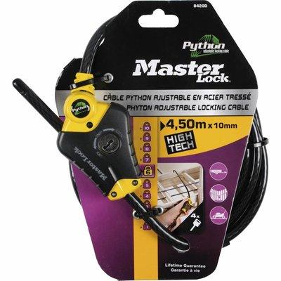 Masterlock Master Lock Kabelschloss Python, Schwarz,