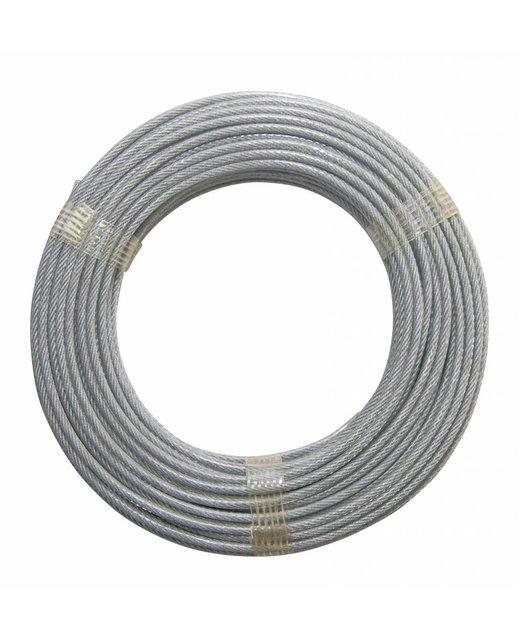 Staalkabel haspel Pvc 20 meter 2-3mm