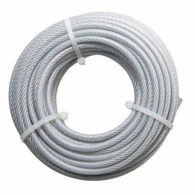 Staalkabel haspel Pvc 20 meter 4-5mm