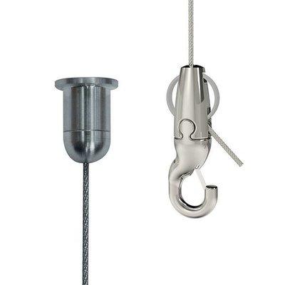 Gripple Seilabhängung befestigung  Abhängung aller Leuchtentypen Mit Drahtseil mit Systemhaken zertifiziert