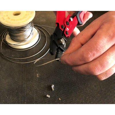 Edelstahl Drahtseilpressklemmen 1,5mm