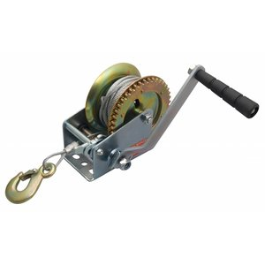Hand winch with 15 meter Wire Rope and hook