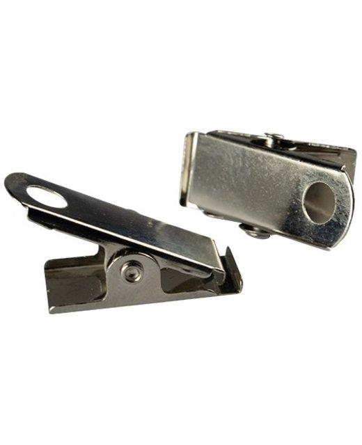 Metalen clipje met perforatie