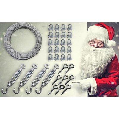 Staalkabelset für hängende Weihnachtsbeleuchtung oder LED-Streifen