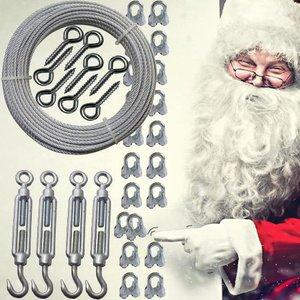 Staalkabel voor Kerstverlichting