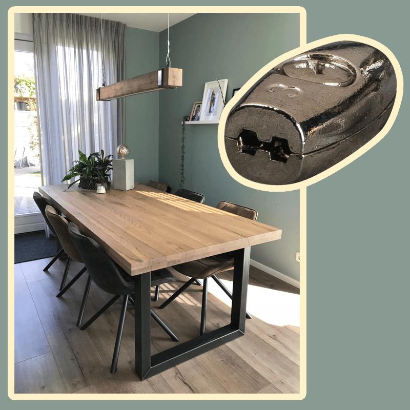draadklem - staalkabel - zelfgemaakte lamp