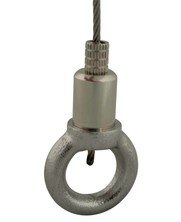 Gripper with fixscrew - eyenut for  2.5mm Wire Rope