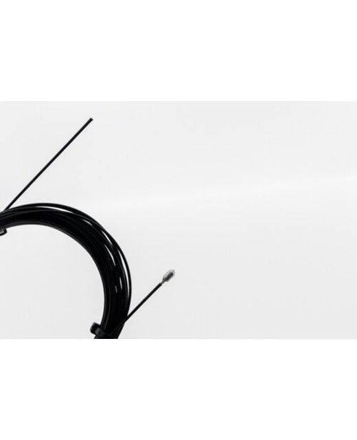 Staalkabel met eindstop 5m - 1.2mm  Zwart