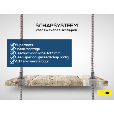 Technx Staalkabel schuifsysteem voor schappen