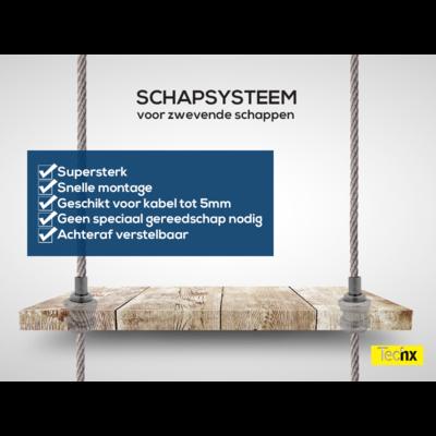 Technx Stahlseilschiebesystem für Regale
