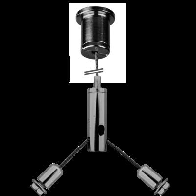 Technx Seilaufhängung Einbauset - ? 1.5mm*1m Hängende Ketten Einstellbare Länge 19
