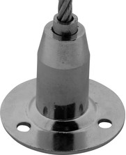 Staalkabelhouder voor staalkabel tot 5 mm
