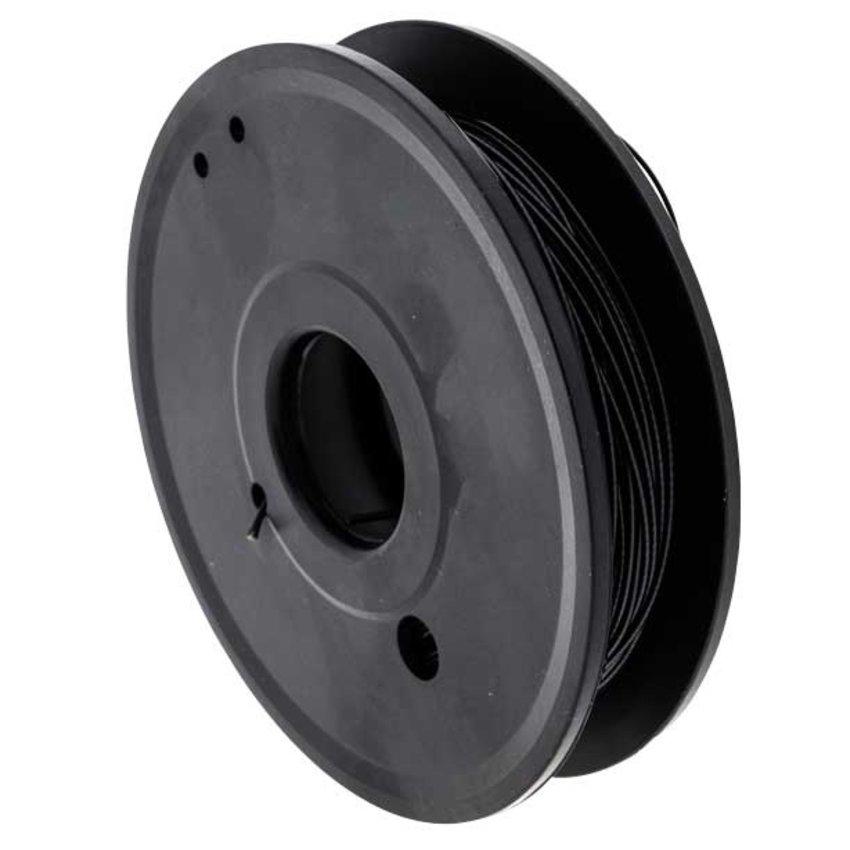 Staalkabels zwart geplastificeerd 1.0/1.2mm 50 meter