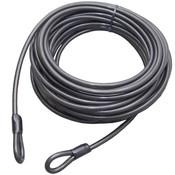 Staalkabel 20 meter met lussen extra lange kabel