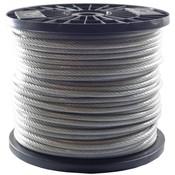 Drahtseile 6/8 mm PVC-ummantelt 100 meter auf Rolle