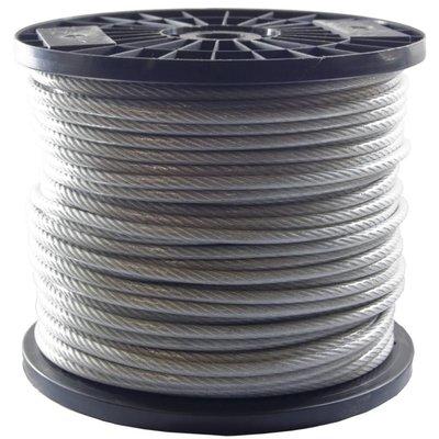 Drahtseile 4/5 mm PVC-ummantelt 100 meter auf Rolle