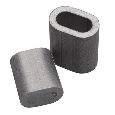 Pressklemme 5mm aluminium