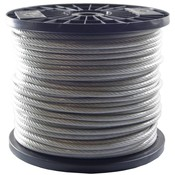 Drahtseile 5/6 mm PVC-ummantelt 100 meter auf Rolle