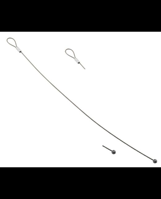 Staalkabel met kogel vormige eindafwerking