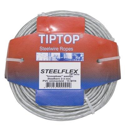 Tiptop Staaldraad - Waslijndraad Drooglijndraad 15 waslijn maken