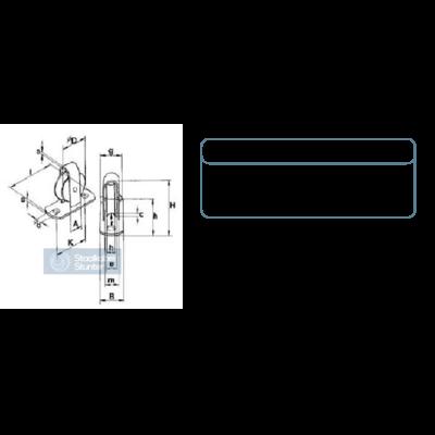Stehrolle mit gusseisernen Rad 40 mm (Stehrolle)