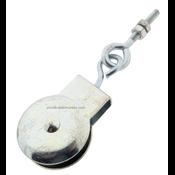 Markisenhangrolle Holzgewinde-Ringschraube Polyamidrad 32 mm  m6